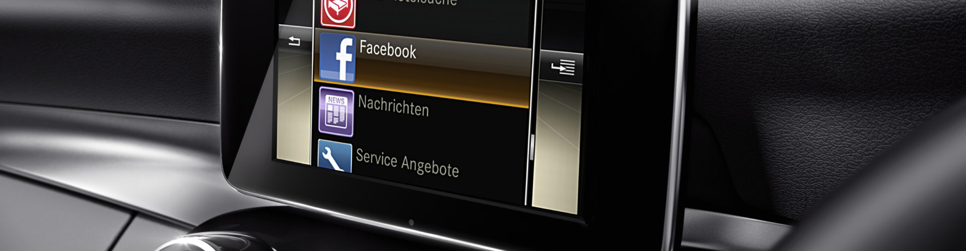 Mercedes-Benz Original-Zubehör für die C-Klasse: COMAND Online mit 6-fach DVD-Wechsler und den Mercedes-Benz Apps für COMAND Online. 