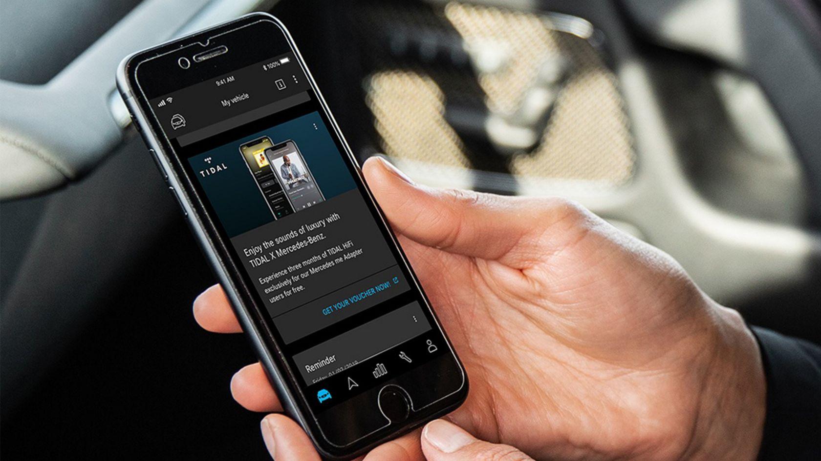 TIDAL HiFi με την εφαρμογή Mercedes me Adapter